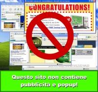 Questo sito non contiene pubblicità e popup!